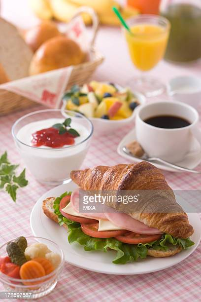 Croissant Sandwiches for Breakfast