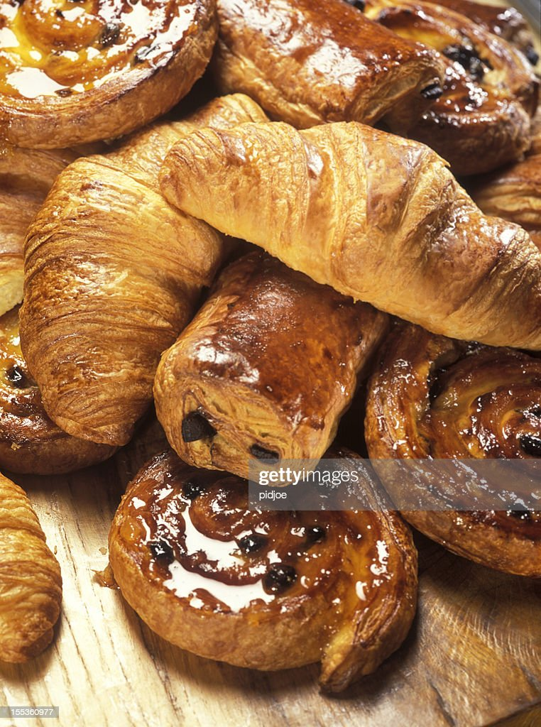 croissants and Danish pastry