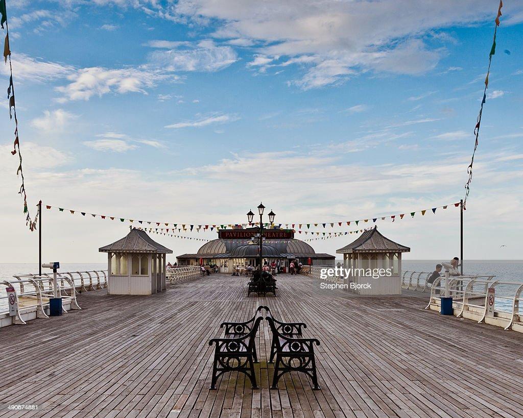 Cromer pier under blue sky