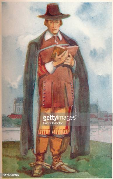 A Cromwellian Man' 1907 From English Costume painted and described by Dion Clayton Calthrop [Adam Charles Black London 1907] Artist Dion Clayton...