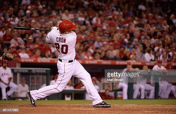 J Cron of the Los Angeles Angels at bat during the game against the Texas Rangers on June 21 2014 at Angel Stadium of Anaheim in Anaheim California