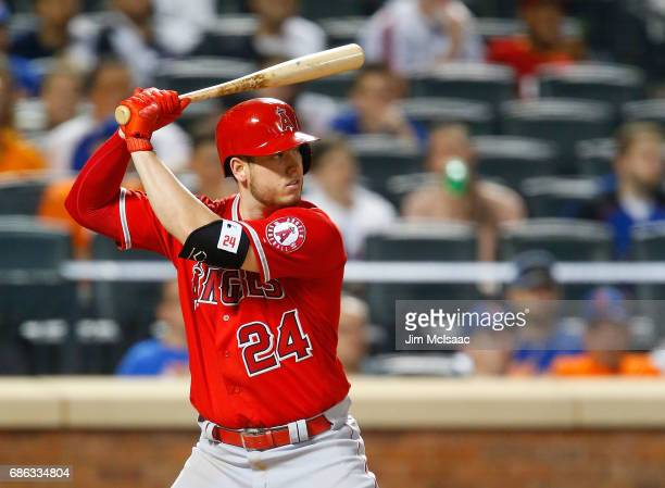 CJ Cron of the Los Angeles Angels of Anaheim in action against the New York Mets at Citi Field on May 19 2017 in the Flushing neighborhood of the...