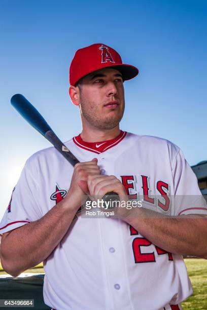 J Cron of the Los Angeles Angels of Anaheim poses for a portrait during Angels Photo Day at Tempe Diablo Stadium on February 21 2017 in Tempe Arizona