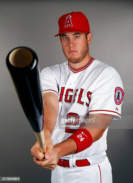 J Cron of the Los Angeles Angels poses during a spring training photo day on February 26 2016 in Tempe Arizona
