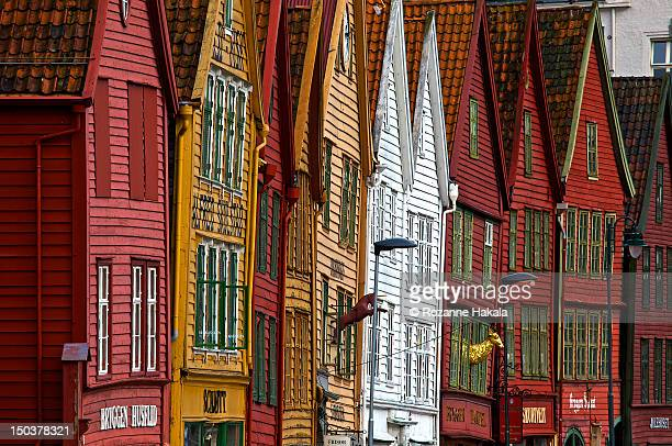 Crooked houses in Bergen, Norway