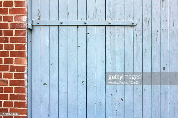 Cropped Blue Wooden Wall