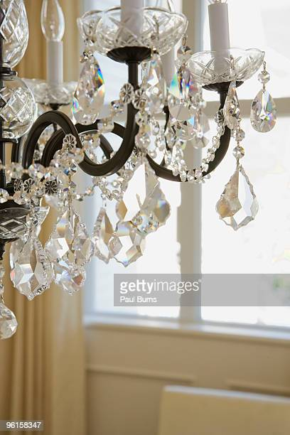 Cropped chandelier, close-up