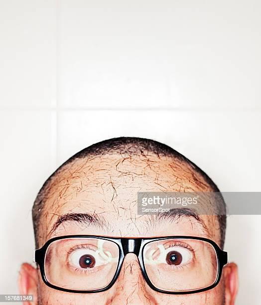 Cropped hair