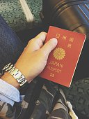 Cropped Hand Holding Japanese Passport