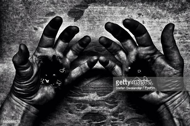 Dirty Hands On Table Stock Photos and Pictures | Getty Images