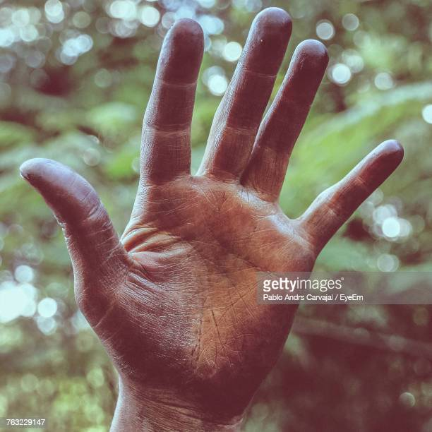 Cropped Image Of Dirty Hands