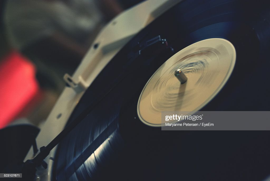 Cropped Image Of Gramophone Disc