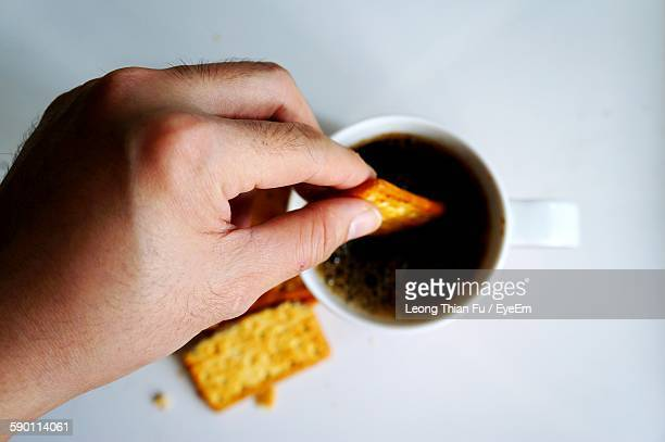 Cropped Image Of Person Having Breakfast At Home