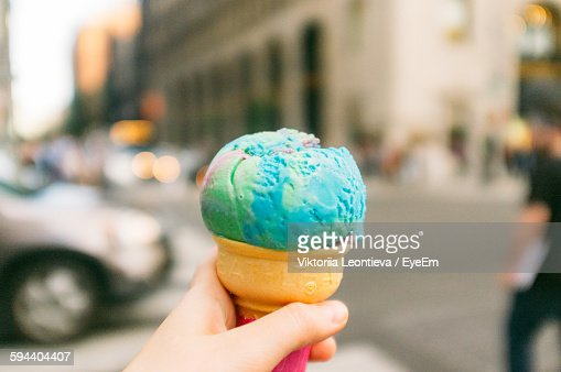 Cropped Image Of Person Holding Ice Cream