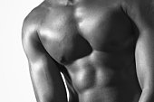 Cropped shot of a man's muscular torso