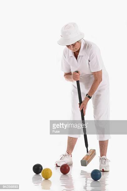 Croquet player