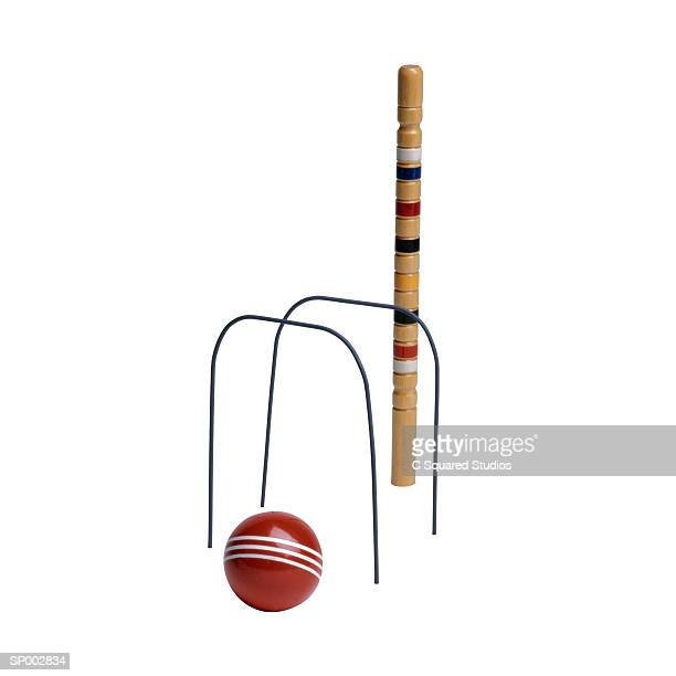 Croquet Wickets and Ball