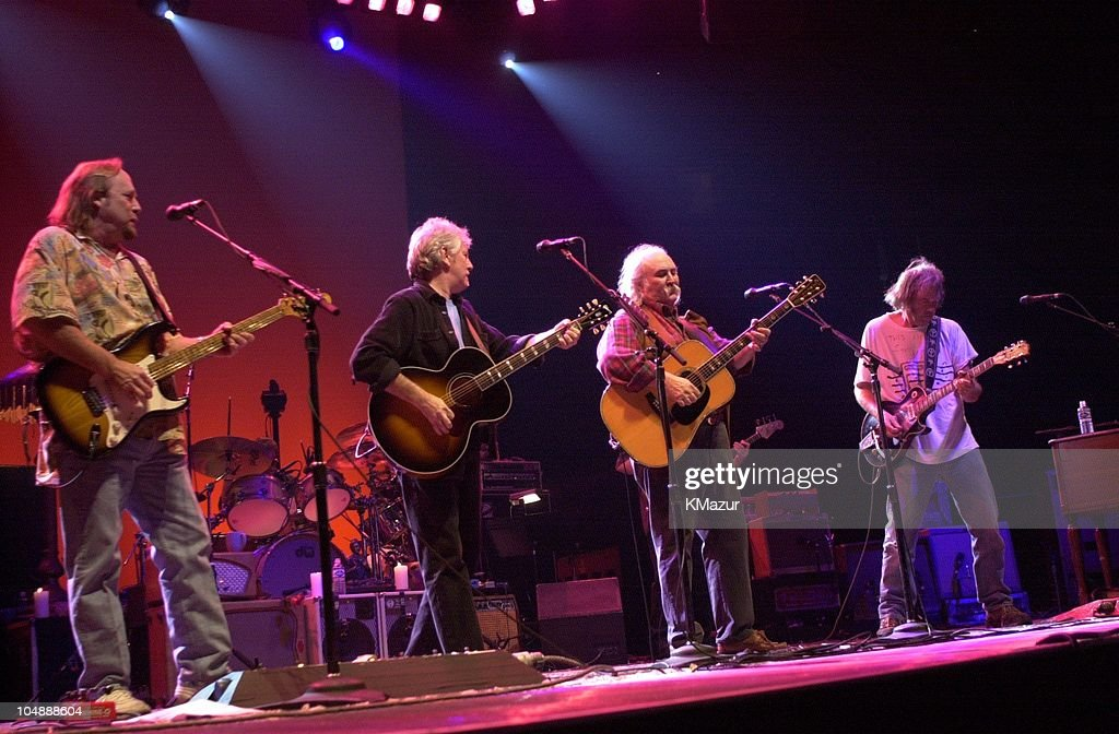 Crosby Stills Nash and Young during Crosby Stills Nash and Young MSG Concert at Madison Square Garden in New York City New York United States