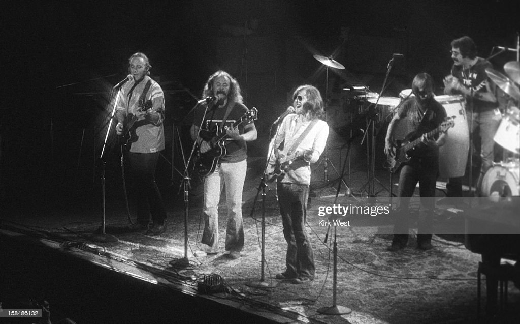 Crosby Stills Nash Young perform at Chicago Stadium Chicago Illinois August 27 1974