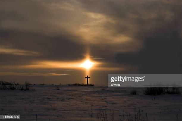 Cross et lumière du soleil