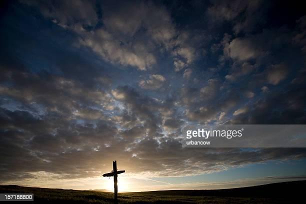 Kreuz bei Sonnenuntergang