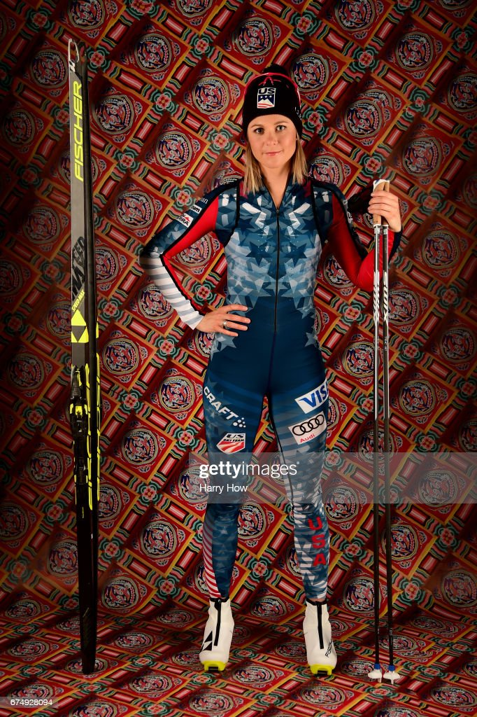 Cross country skier Sadie Bjornsen poses for a portrait during the Team USA PyeongChang 2018 Winter Olympics portraits on April 29, 2017 in West Hollywood, California.