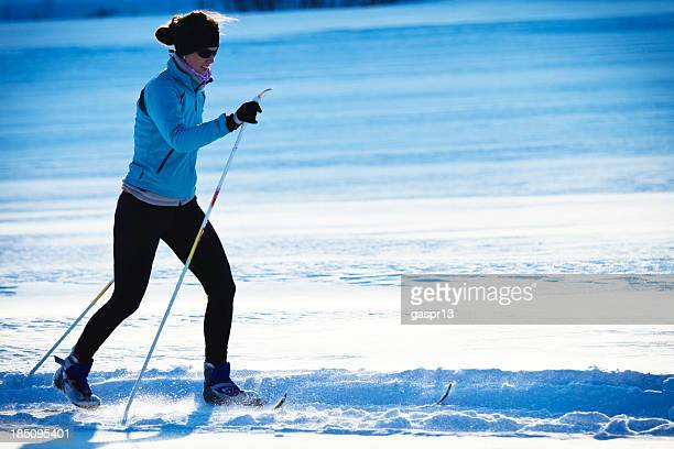 cross country skiing - classic style
