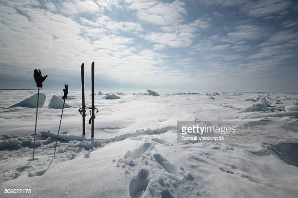 Cross country skiing in Hailuoto