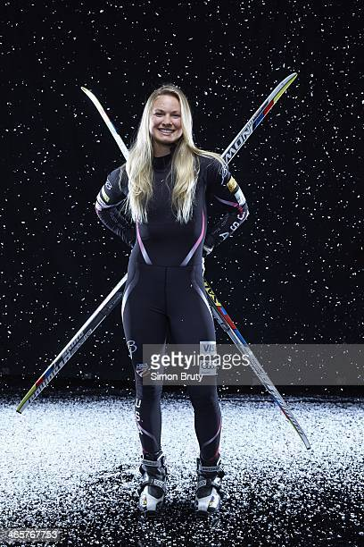 Winter Games Preview Portrait of Team USA Jessie Diggins during USOC Media Summit photo shoot at Grand Summit Hotel Park City UT CREDIT Simon Bruty