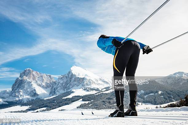 Cross Country Skiing With Panorama View