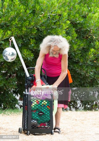 Cross Dressing Man At Hempfest : Stock Photo