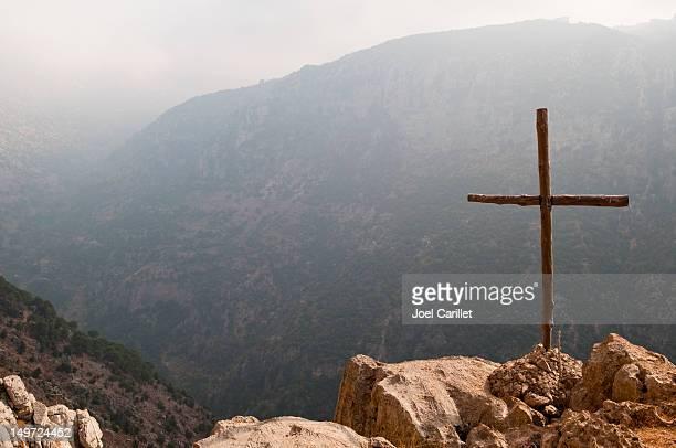Cross im Nahen Osten (Qadisha Valley, Libanon