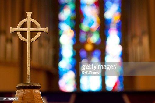 Cross on Church Alter