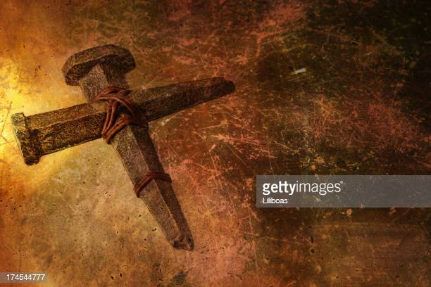 Cross on Textured Background