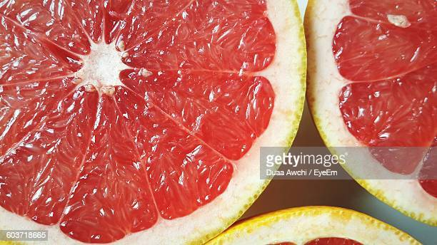 Cross Section Of Grape Fruits