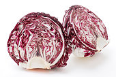Cross Section of Radicchio Isolated on White