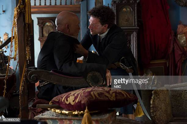 CROSSBONES 'Crossbones' Pictured John Malkovich as Blackbeard Richard Coyle as Tom Lowe