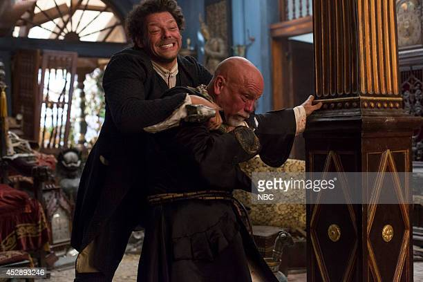 CROSSBONES 'Crossbones' Pictured Richard Coyle as Tom Lowe John Malkovich as Blackbeard