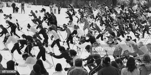 CrossCountry Racers Scramble for Position at the Start of the Keystone Cross Country Caper Sunday at the Keystone Ski Area Credit Denver Post