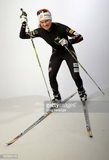 Crosscountry skier Jessie Diggins poses for a portrait during the USOC Media Summit ahead of the Sochi 2014 Winter Olympics on October 2 2013 in Park...