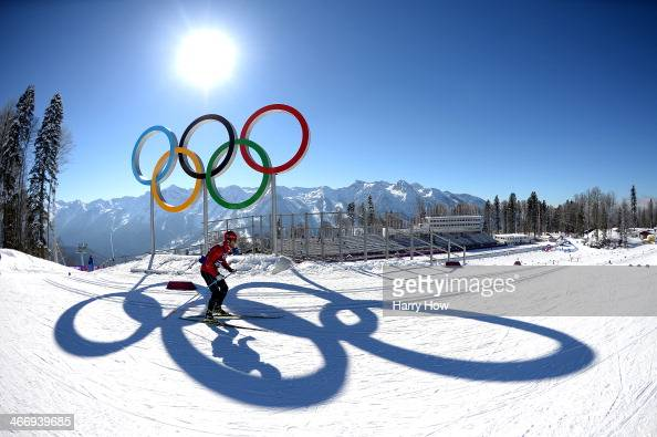 CrossCountry skier Martin Johnsrud Sundby of Norway trains ahead of the Sochi 2014 Winter Olympics at the Laura CrossCountry Ski and Biathlon Center...