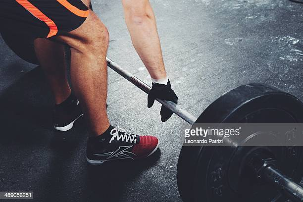 Crossfit training in the gym