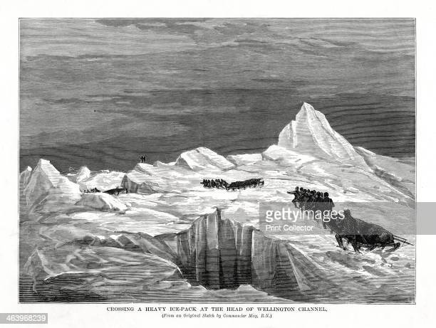 'Crossing a Heavy IcePack at the Head of Wellington Channel' 1877