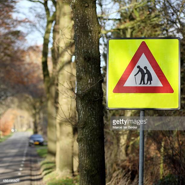 Crossing elderly sign