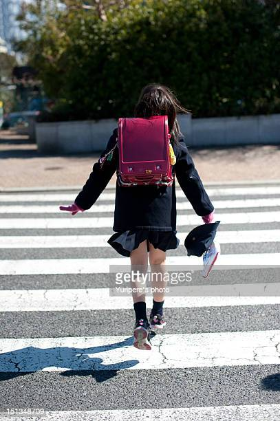 Crossing girl