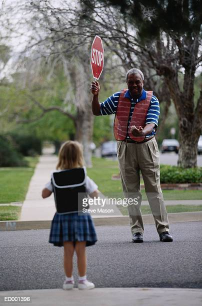 Crossing Guard with Girl