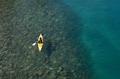 Paddling and enjoying the scenery and lakes of Patagonia, Sudamerica.
