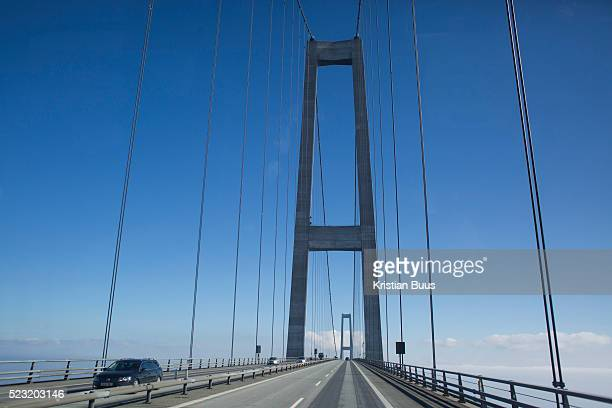 Crossing the Great Belt Bridge connecting Zealand in the East to West Denmark The crossing is 18 km long and the suspension part 16km long making it...