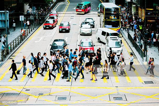 Crossing the road, Central, Hong Kong
