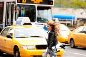 Crossing the road, New York City